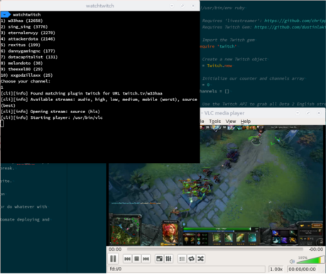 Command Line Twitch Tv Browser The Blog Of Tom Webster